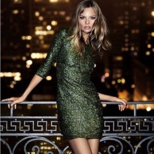 Emerald Green Sequin Bodycon Dress